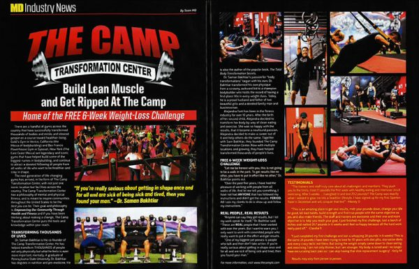 The Camp featured in Muscle Development magazine